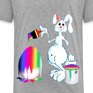 Easter Bunny Paints - Toddler Premium T-Shirt