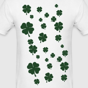 White All over four leaf clover Long sleeve shirts - Men's T-Shirt
