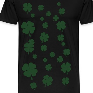 Black All over four leaf clover Long sleeve shirts - Men's Premium T-Shirt