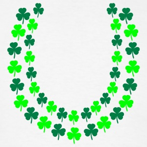 White Irish Shamrock Lei, Open End Poloshirts - Men's T-Shirt