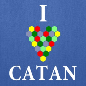 Navy I Heart Catan T-Shirts - Tote Bag