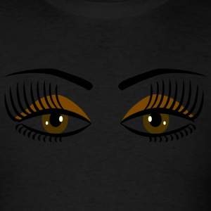 Powder blue Big Brown Eyes - DIGITAL DIRECT DESIGN Long sleeve shirts - Men's T-Shirt