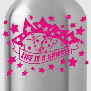 Black life is a gamble Women's T-shirts - Water Bottle