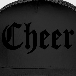 Black Cheer Hooded Sweatshirts - Trucker Cap