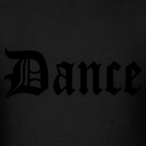 Black Dance Design Hooded Sweatshirts - Men's T-Shirt