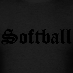 Black Softball Hooded Sweatshirts - Men's T-Shirt