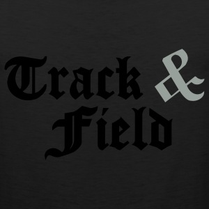 Black Track & Field Hooded Sweatshirts - Men's Premium Tank