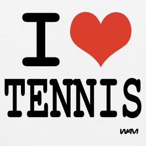White i love tennis by wam Kids Shirts - Men's Premium Tank