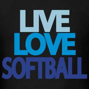 Live Love Softball Hooded Sweatshirt - Men's T-Shirt