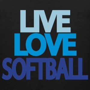Live Love Softball Hooded Sweatshirt - Men's Premium Tank
