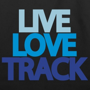 Live Love Track Hooded Sweatshirt - Eco-Friendly Cotton Tote