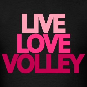 Live Love Volley (ball) Hooded Sweatshirt - Men's T-Shirt