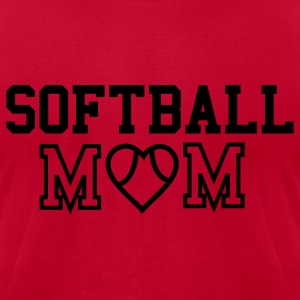 Softball Mom Hooded Sweatshirt - Men's T-Shirt by American Apparel
