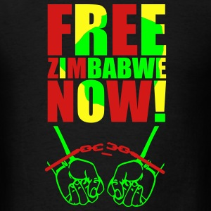 Black Free Zimbabwe Now! Tanks - Men's T-Shirt