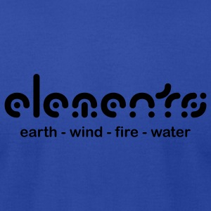 Royal blue Elements Hoodies - Men's T-Shirt by American Apparel
