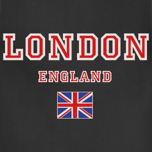 Black London, England Hooded Sweatshirts - Adjustable Apron