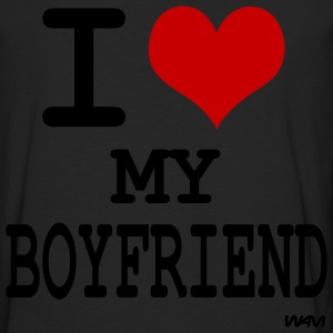 Black i love my boyfriend by wam T-Shirts - Men's Premium Long Sleeve T-Shirt