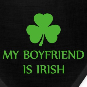 Kelly green my boyfriend is irish Women's T-shirts - Bandana