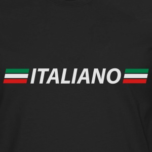 Black italiano T-Shirts - Men's Premium Long Sleeve T-Shirt