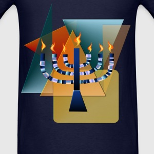 Menorah with shapes - Men's T-Shirt