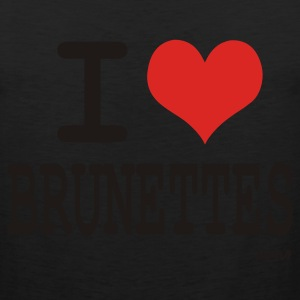 Black i love brunettes by wam T-Shirts - Men's Premium Tank