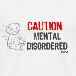 White mental disordered by wam Buttons - Men's Premium T-Shirt