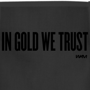 Black in gold we trust by wam T-Shirts - Adjustable Apron