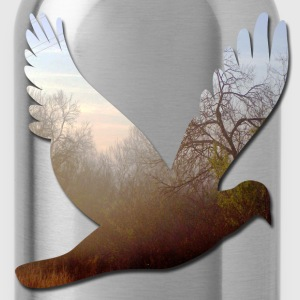 Black good_morning_dove T-Shirts - Water Bottle