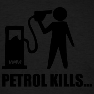 Black petrol kills by wam Hoodies - Men's T-Shirt