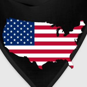 USA  Map-Flag 1 - Bandana