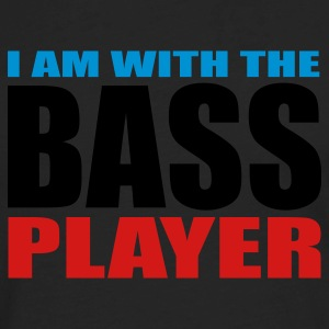 Black I am with the Bass Player Women's T-shirts - Men's Premium Long Sleeve T-Shirt