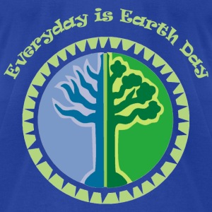 Royal blue Everyday is Earth Day Sweatshirts - Men's T-Shirt by American Apparel