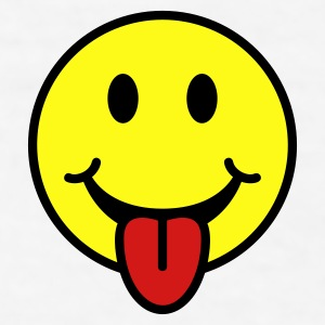 Smiley with Tongue Hat - Men's T-Shirt