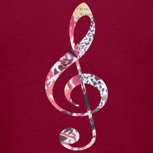 Burgundy TREBLE CLEF Hoodies - Men's T-Shirt