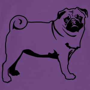 Light pink Pug line Hooded Sweatshirts - Men's Premium T-Shirt