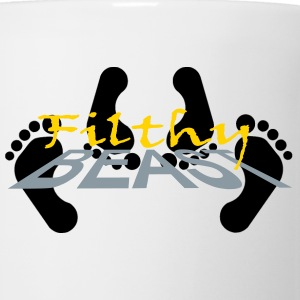 White Jiggy Buttons - Coffee/Tea Mug
