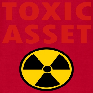 Red Toxic Asset With Hazardous Waste Symbol Baby Body - Men's T-Shirt by American Apparel