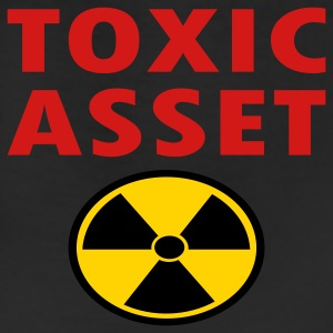 Red Toxic Asset With Hazardous Waste Symbol Sweatshirts - Leggings