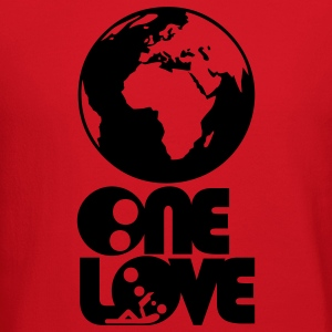 ONE LOVE : think global - Brown T-Shirt M - Crewneck Sweatshirt