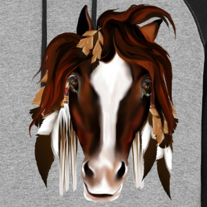 Soft Horse Eyes - Colorblock Hoodie