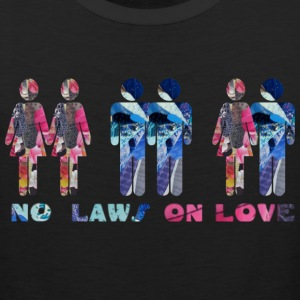 Black NO LAWS ON LOVE Sweatshirts - Men's Premium Tank