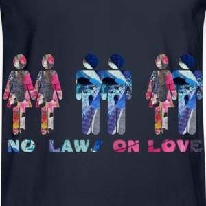 Navy NO LAWS ON LOVE Sweatshirts - Men's Long Sleeve T-Shirt