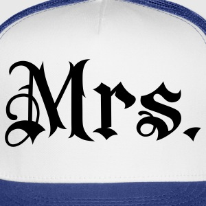 White Mrs. tattoo style Women's T-shirts - Trucker Cap