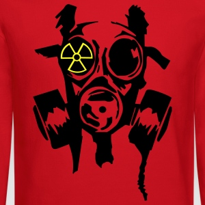Orange bad_gasmask_radioactiv2 Women's T-shirts - Crewneck Sweatshirt