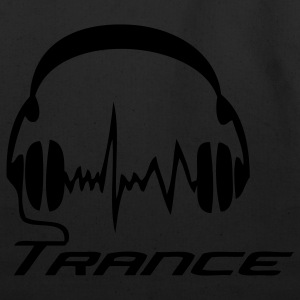 Black Trance Headphones T-Shirts - Eco-Friendly Cotton Tote