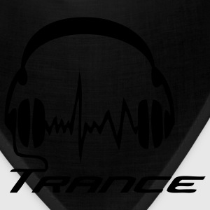 Black Trance Headphones T-Shirts - Bandana