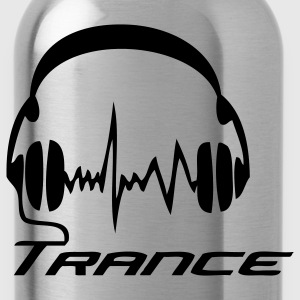Black Trance Headphones T-Shirts - Water Bottle