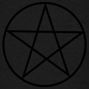 Black Pentacle/ Pentagram Long sleeve shirts - Men's T-Shirt