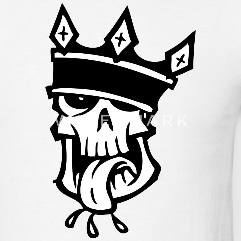 White Skull and Crown T-Shirts - Men's T-Shirt
