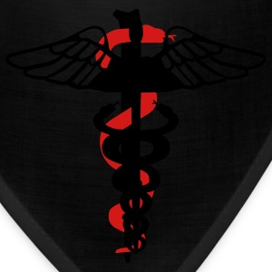 Black Caduceus Zippered Jackets - Bandana